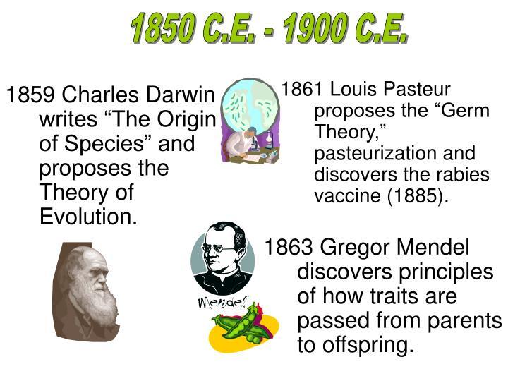1850 C.E. - 1900 C.E.