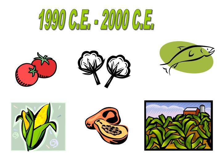 1990 C.E. - 2000 C.E.