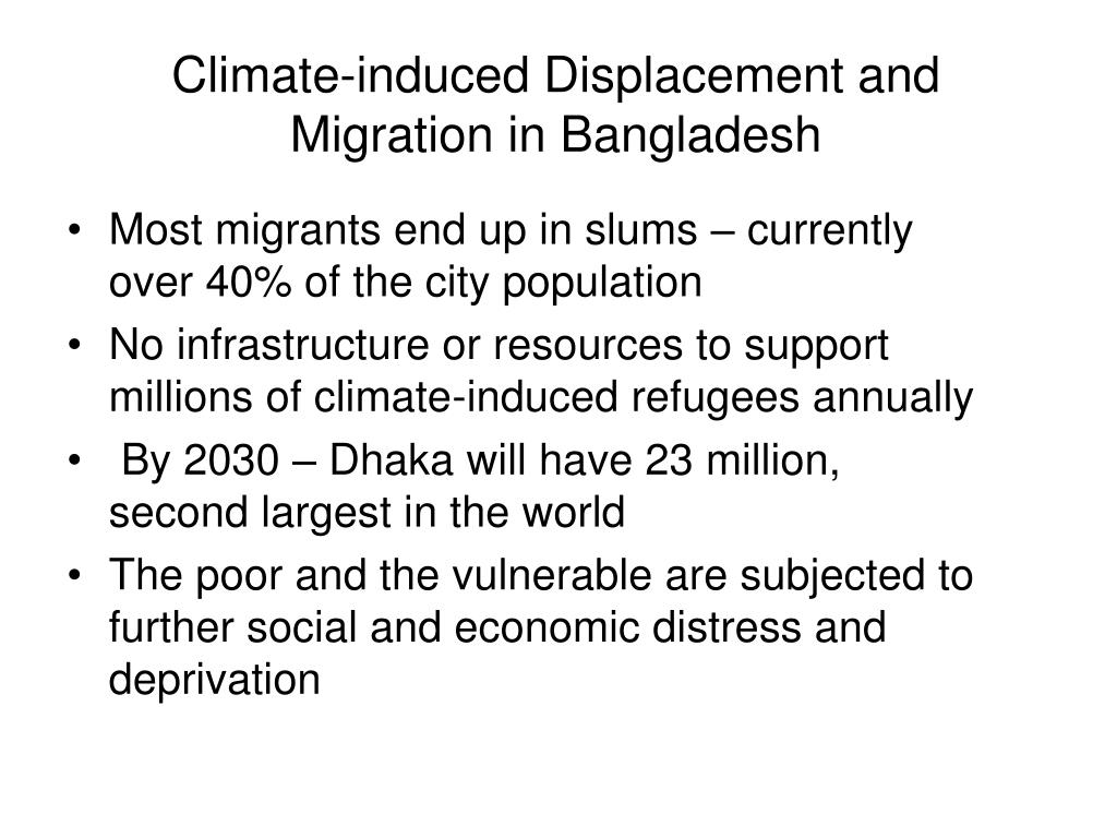 Climate-induced Displacement and Migration in Bangladesh
