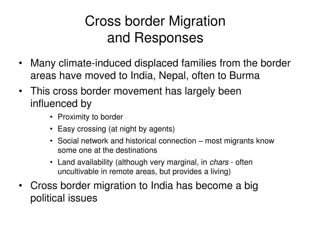 Cross border Migration