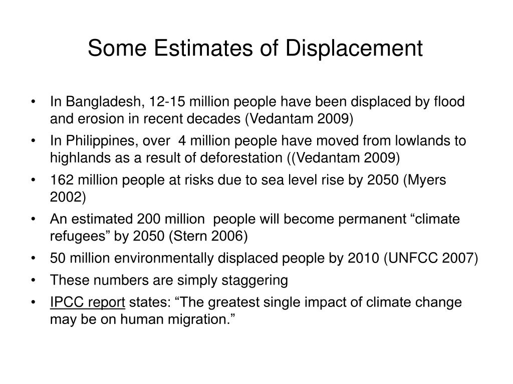 Some Estimates of Displacement