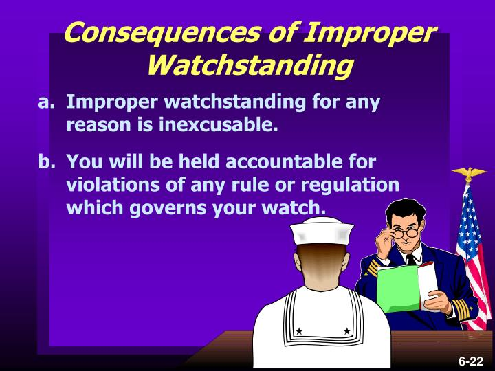 Consequences of Improper Watchstanding
