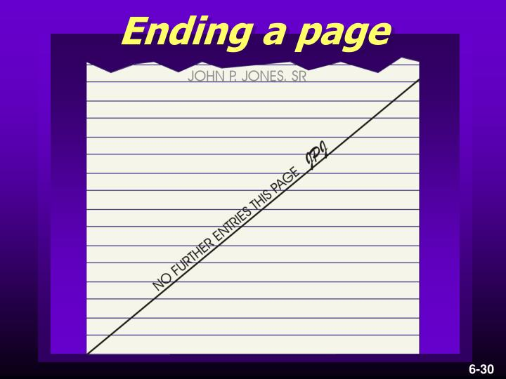 Ending a page