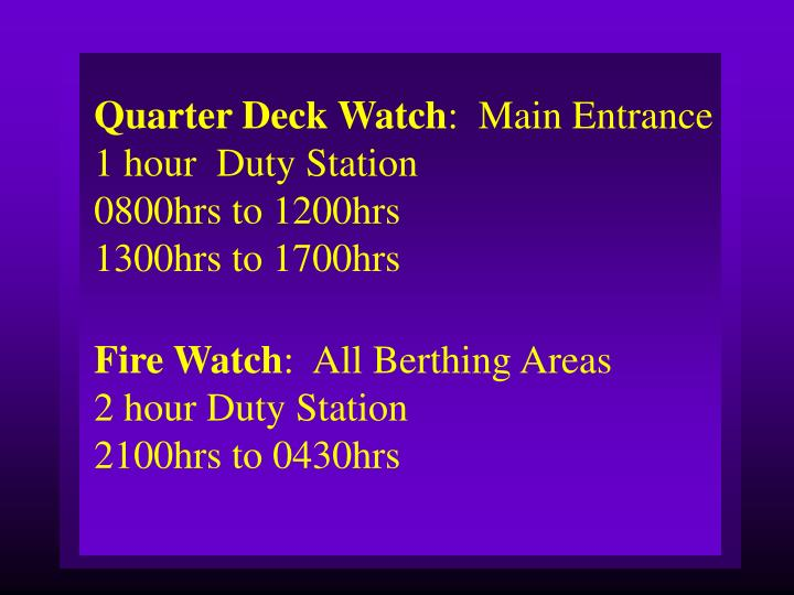 Quarter Deck Watch