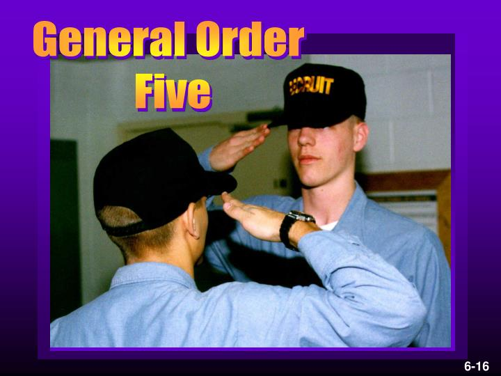 General Order