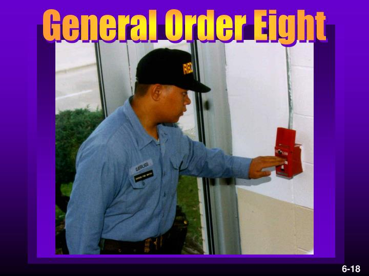 General Order Eight
