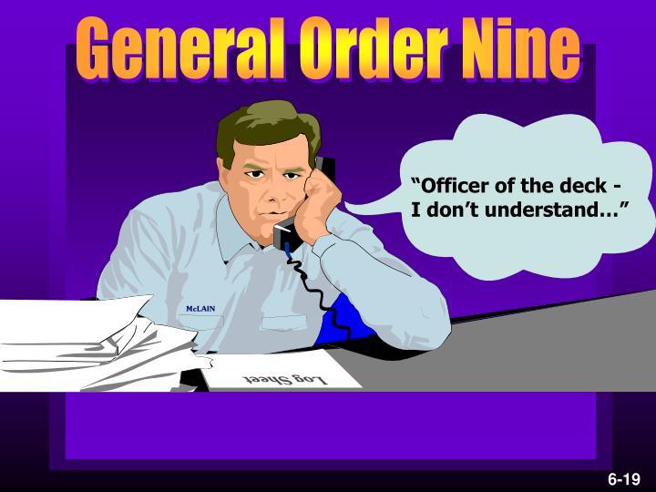 General Order Nine
