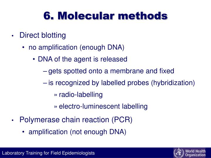 6. Molecular methods