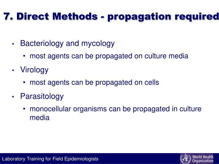 7. Direct Methods - propagation required