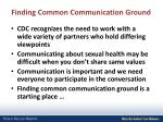 finding common communication ground