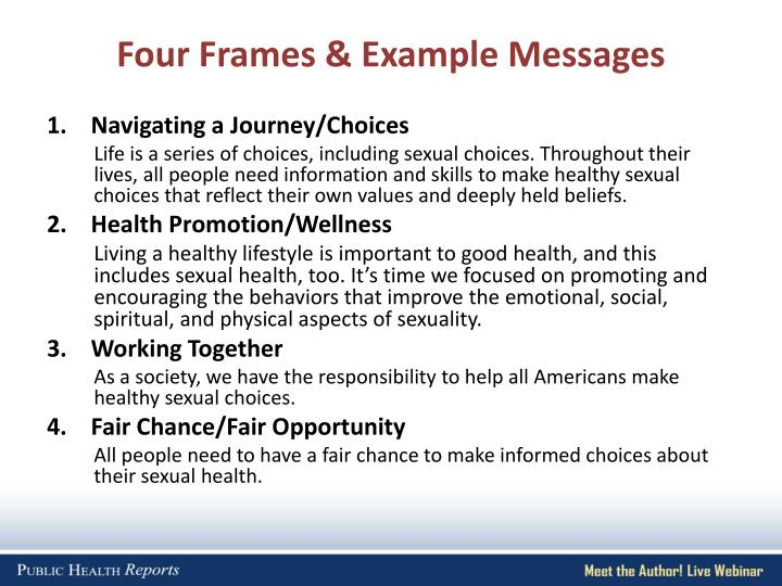 Four Frames & Example Messages