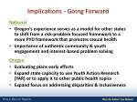 implications going forward