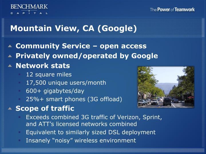 Mountain View, CA (Google)