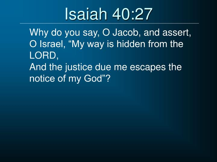 Isaiah 40:27