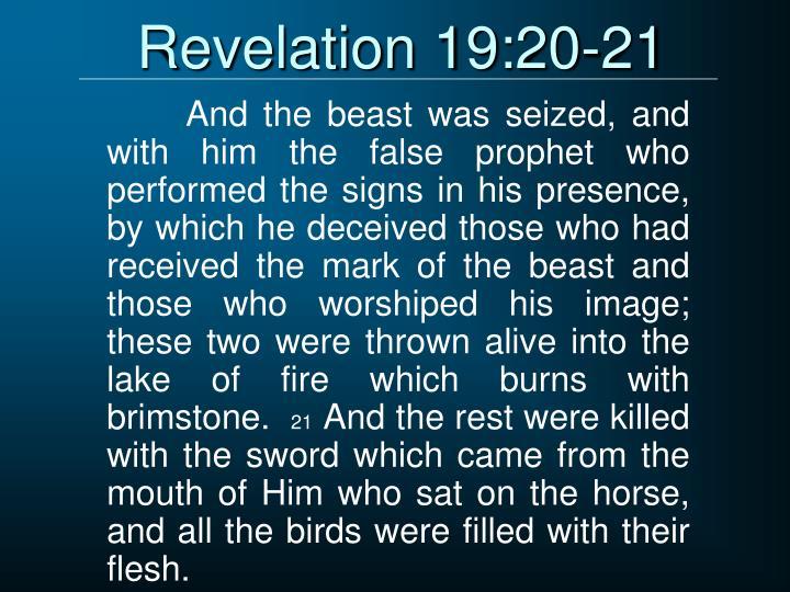 Revelation 19:20-21