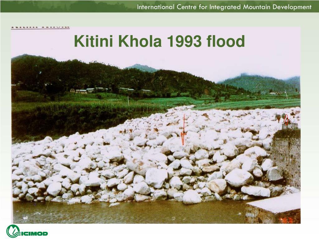 Kitini Khola 1993 flood