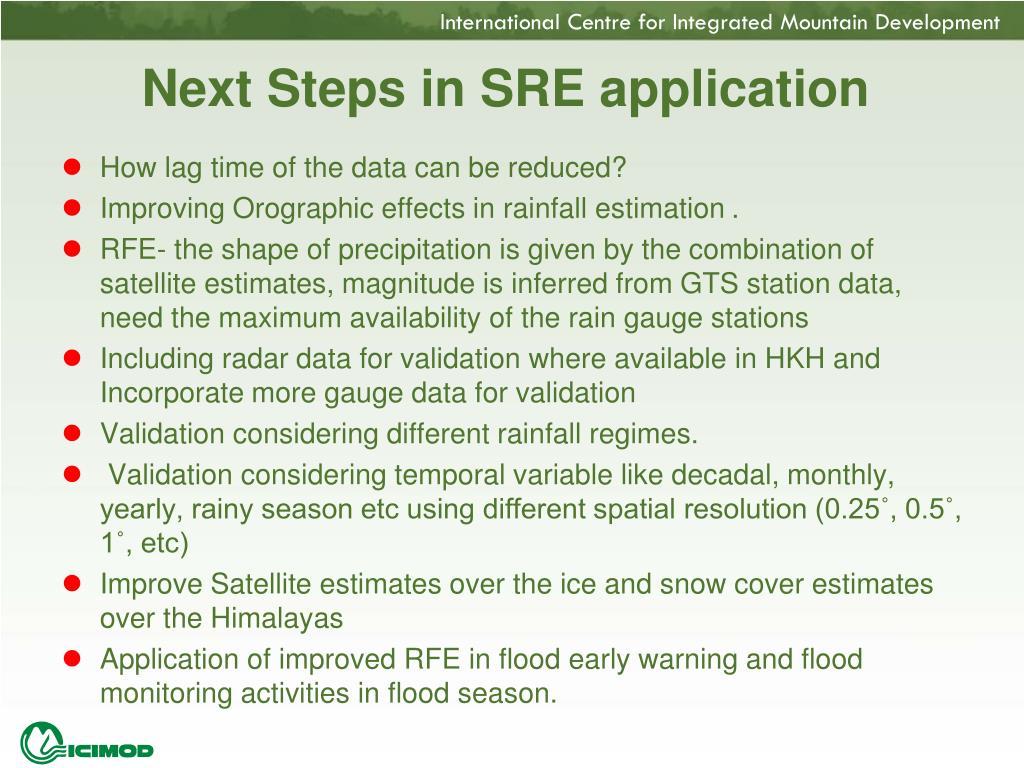 Next Steps in SRE application
