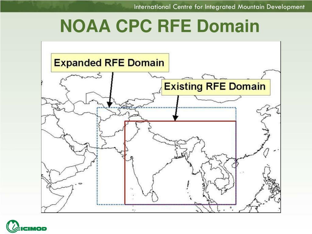 NOAA CPC RFE Domain