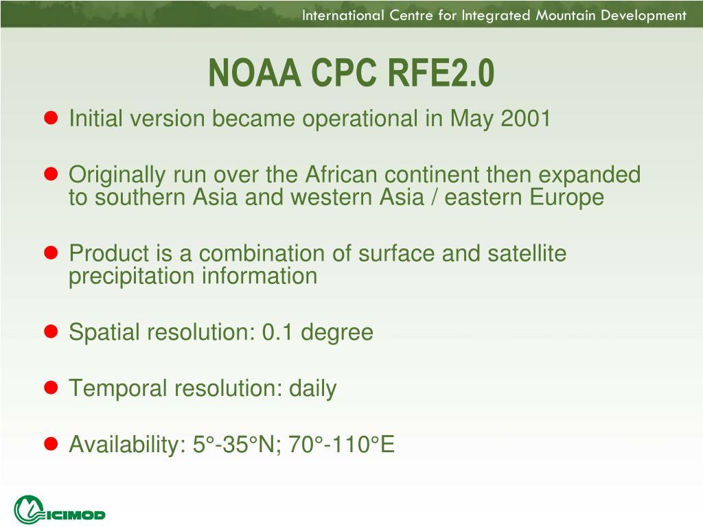 NOAA CPC RFE2.0