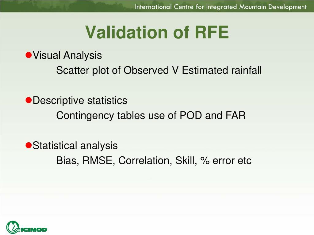 Validation of RFE