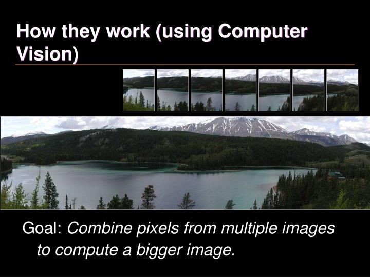 How they work (using Computer Vision)