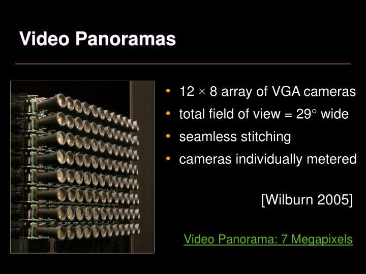 Video Panoramas