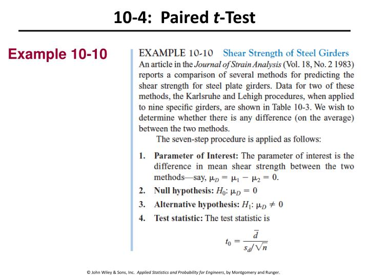 10-4:  Paired