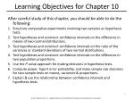 learning objectives for chapter 10