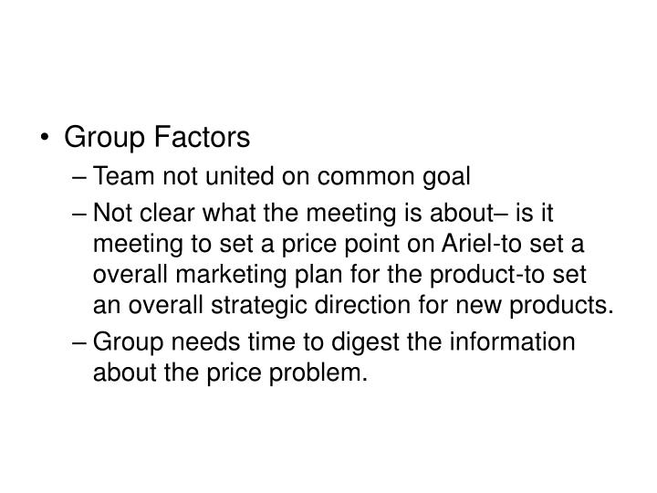 Group Factors