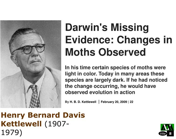Darwin's Missing Evidence: Changes in Moths Observed