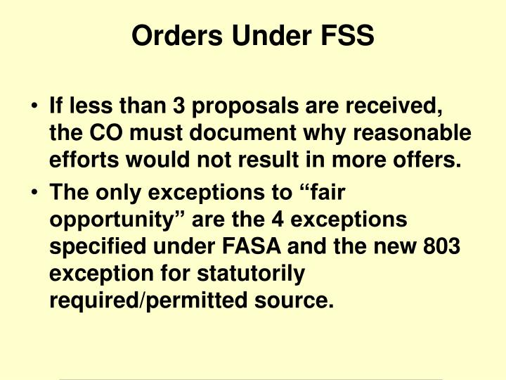 If less than 3 proposals are received, the CO must document why reasonable efforts would not result in more offers.