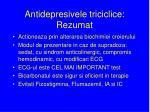 antidepresivele triciclice rezumat