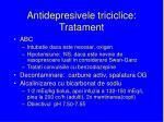 antidepresivele triciclice tratament
