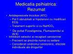 medicatia psihiatrica rezumat
