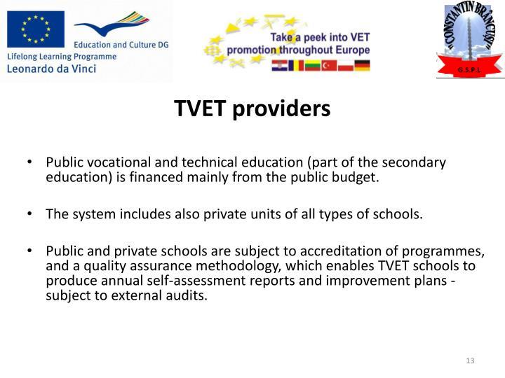 TVET providers