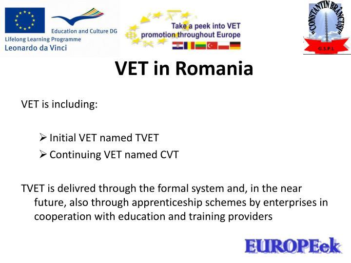 VET in Romania