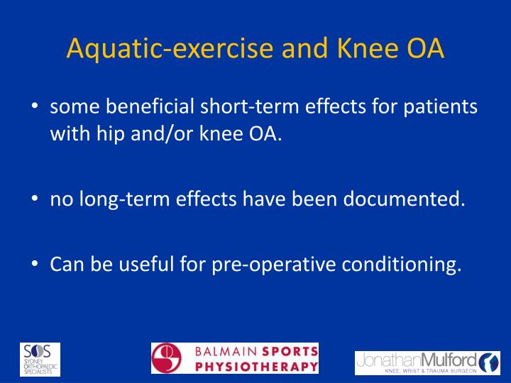 Aquatic-exercise and Knee OA