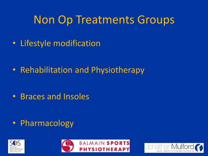 Non Op Treatments Groups
