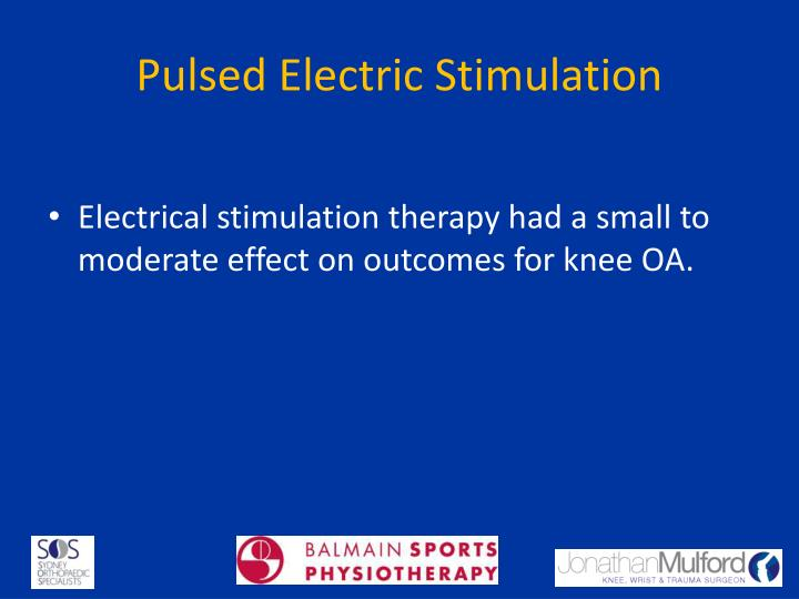 Pulsed Electric Stimulation