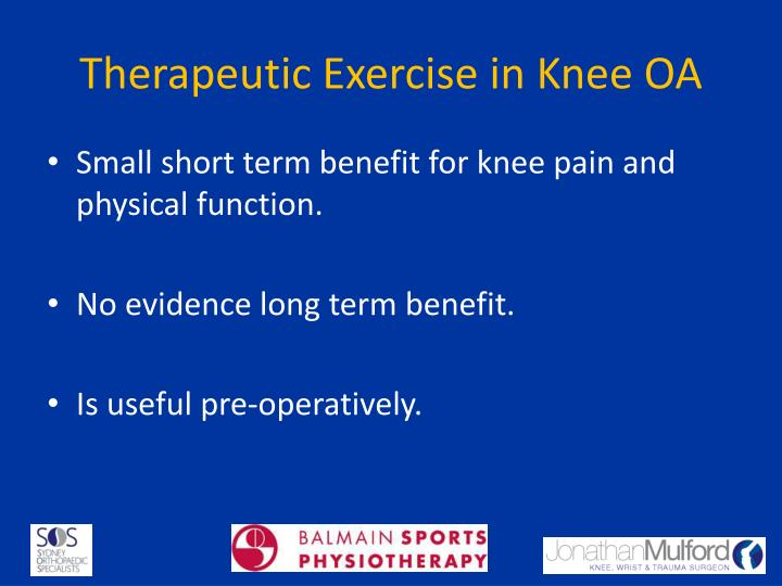 Therapeutic Exercise in Knee OA
