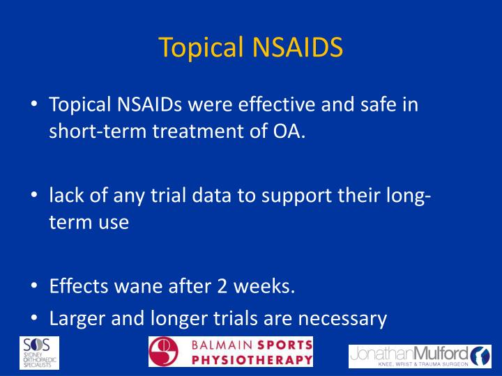 Topical NSAIDS