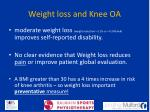 weight loss and knee oa