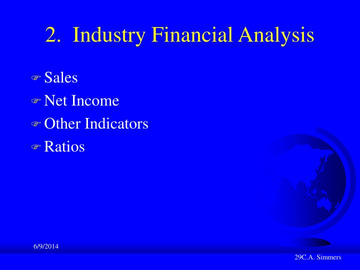 2.  Industry Financial Analysis