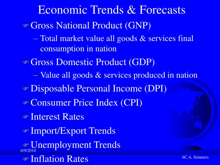 Economic Trends & Forecasts