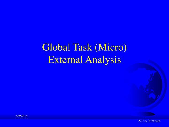 Global Task (Micro)
