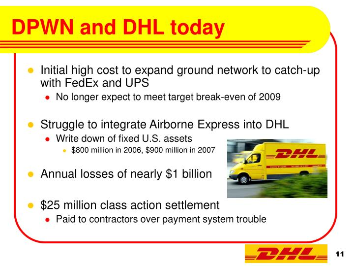 DPWN and DHL today