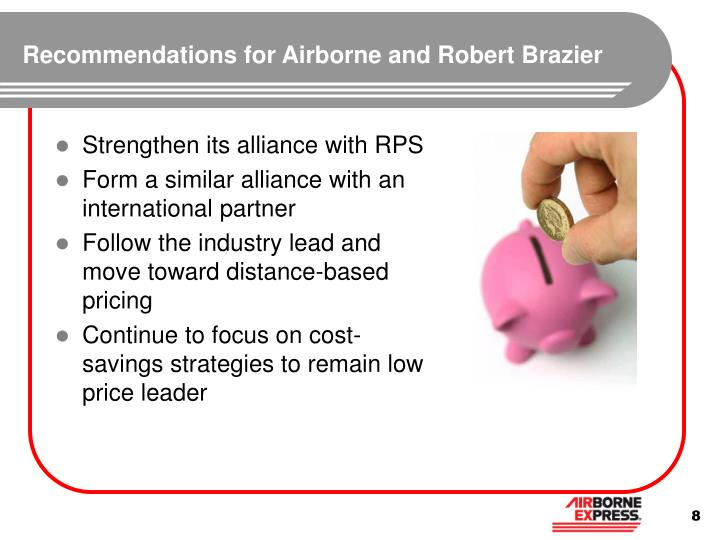 Recommendations for Airborne and Robert Brazier