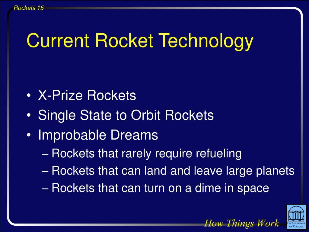Current Rocket Technology
