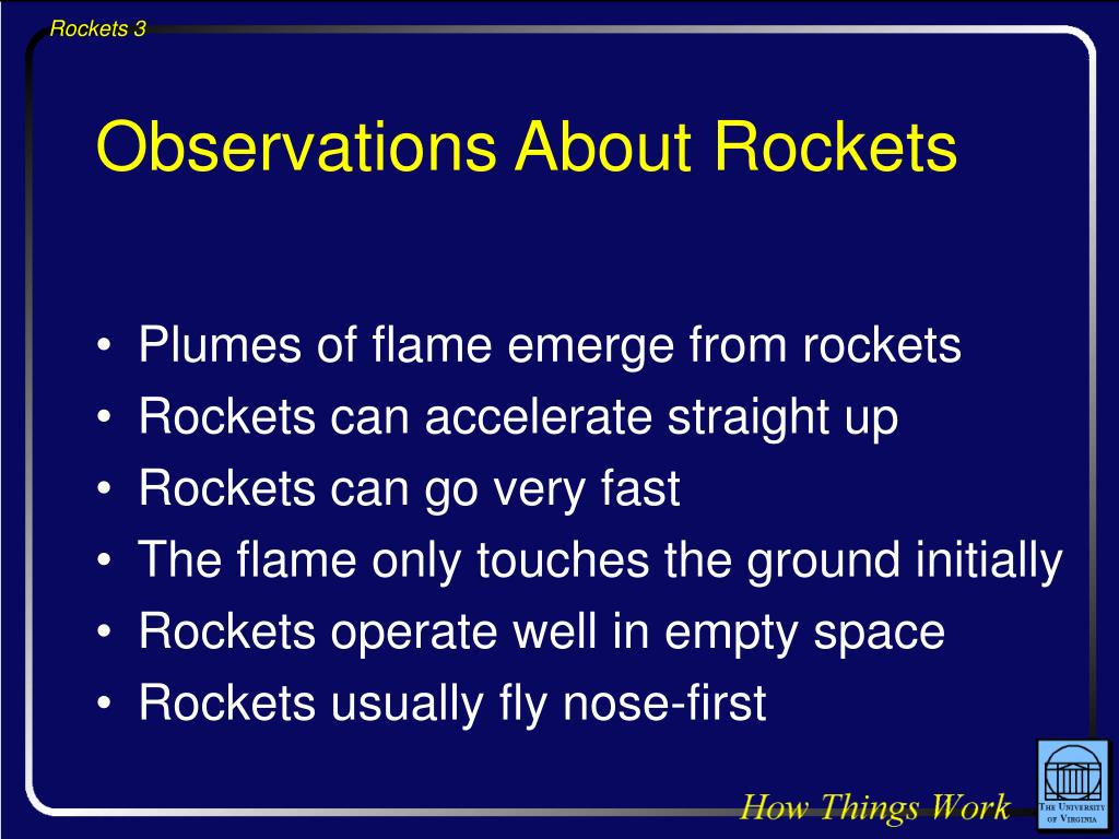 Observations About Rockets