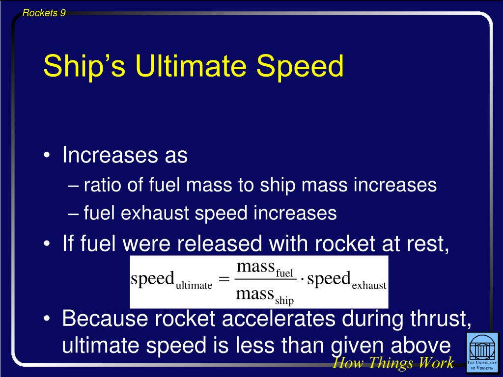 Ship's Ultimate Speed